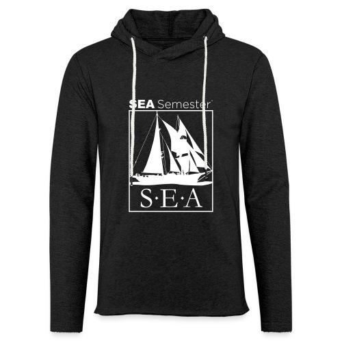 SEA_logo_WHITE_eps - Unisex Lightweight Terry Hoodie