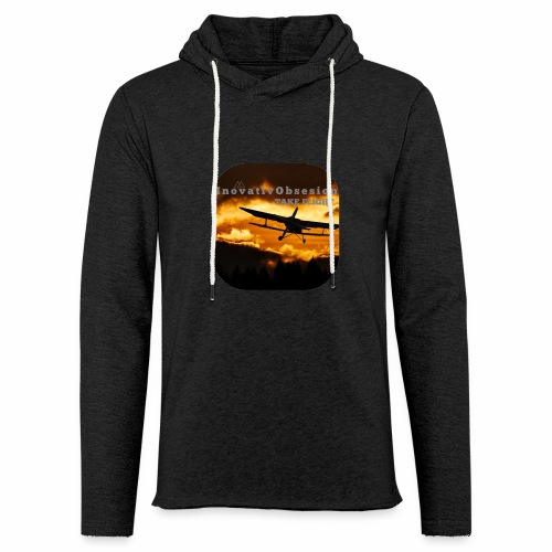 "InovativObsesion ""TAKE FLIGHT"" apparel - Unisex Lightweight Terry Hoodie"
