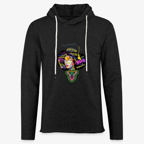 Melanin Queen Shirt - Unisex Lightweight Terry Hoodie