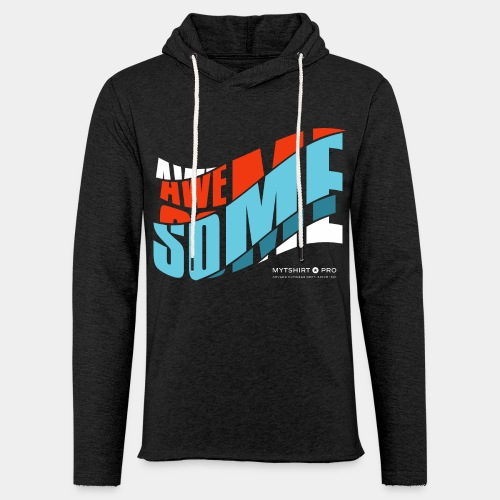 awesome t shirt design diagonal - Unisex Lightweight Terry Hoodie