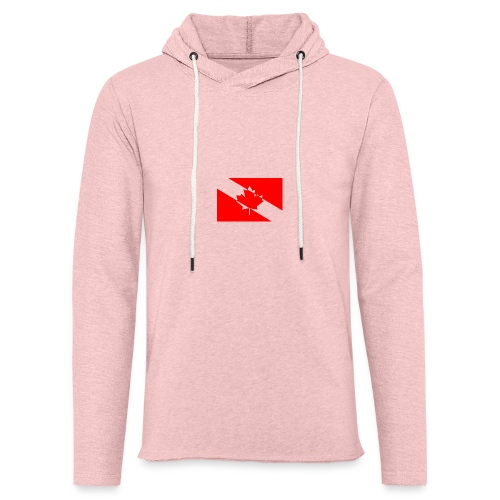 Clear White Dive Canada v. Small - Unisex Lightweight Terry Hoodie
