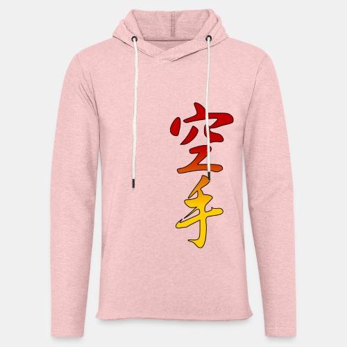 Karate Kanji Red Yellow Gradient - Unisex Lightweight Terry Hoodie