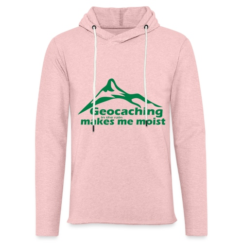 Geocaching in the Rain - Unisex Lightweight Terry Hoodie