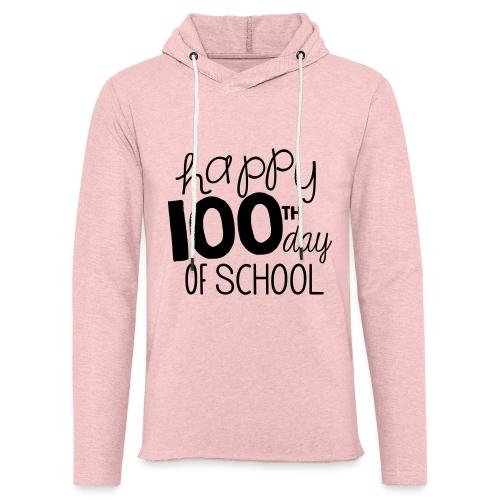 Happy 100th Day of School Chalk Teacher T-Shirt - Unisex Lightweight Terry Hoodie