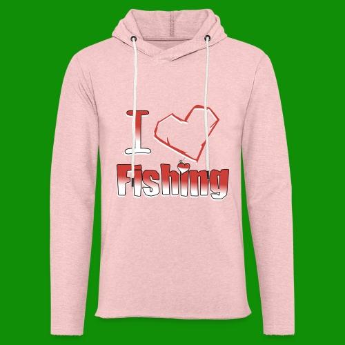 i heart fishing - Unisex Lightweight Terry Hoodie