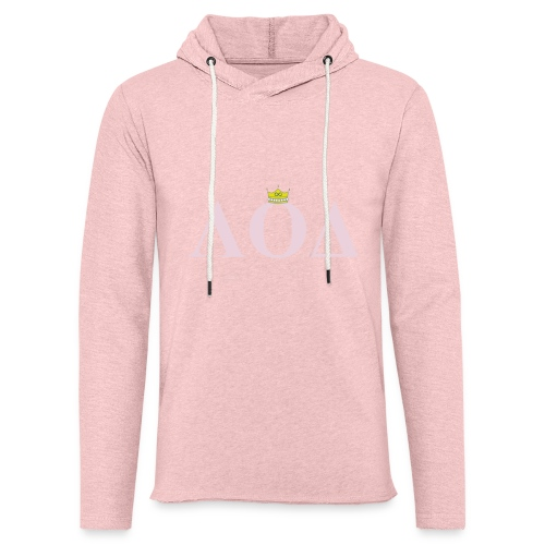 Crown Pink Letters - Unisex Lightweight Terry Hoodie