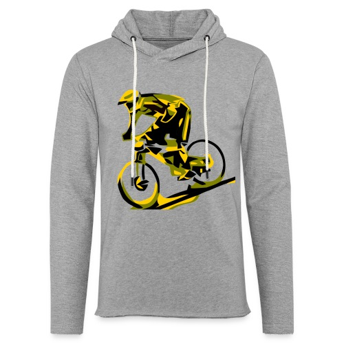 DH Freak - Mountain Bike Hoodie - Unisex Lightweight Terry Hoodie