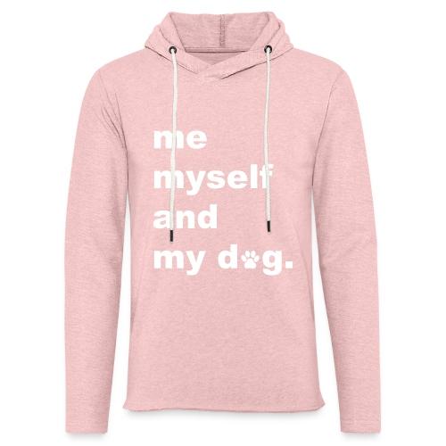 Me Myself And My Dog - Unisex Lightweight Terry Hoodie