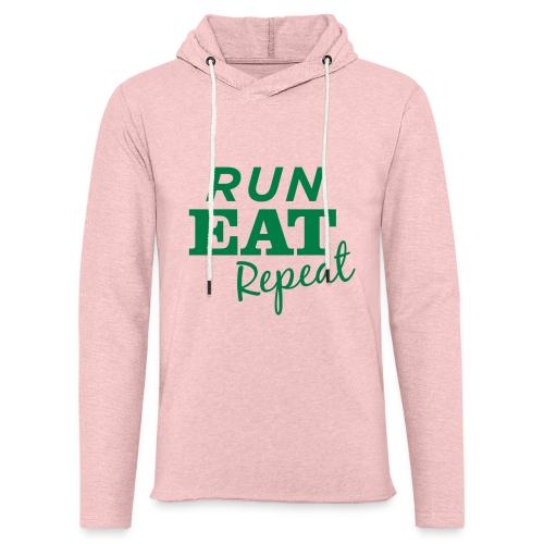 Run Eat Repeat buttons medium - Unisex Lightweight Terry Hoodie