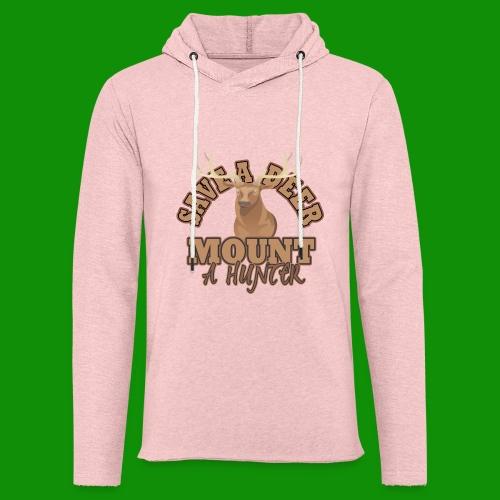 Save a Deer Mount a Hunter - Unisex Lightweight Terry Hoodie