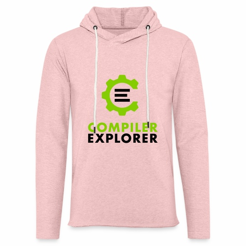 Logo and text - Unisex Lightweight Terry Hoodie