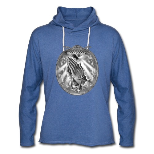 Praying Hands by RollinLow - Unisex Lightweight Terry Hoodie