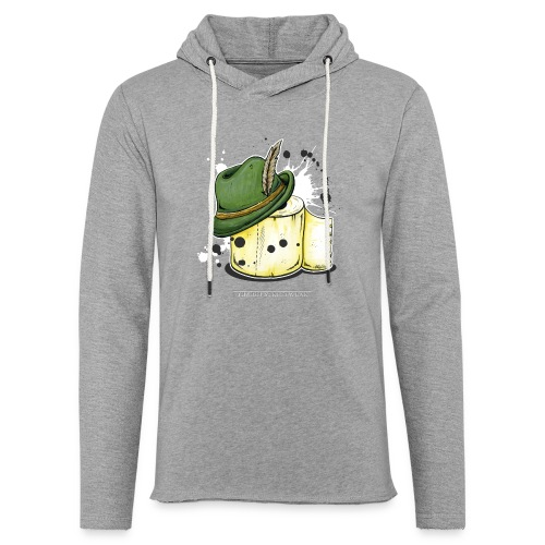 The hunter & the toilet paper - Unisex Lightweight Terry Hoodie