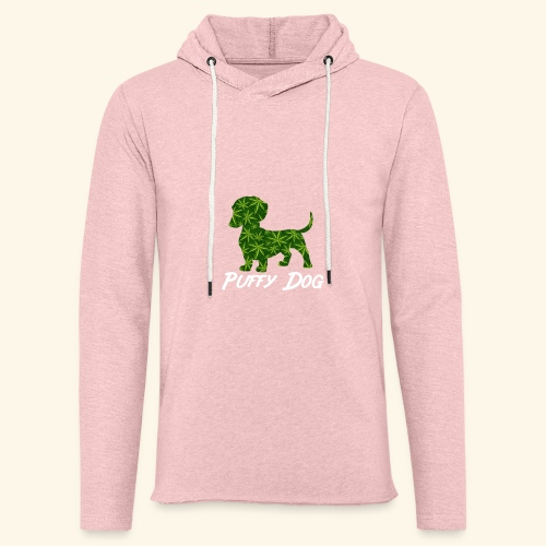 PUFFY DOG - PRESENT FOR SMOKING DOGLOVER - Unisex Lightweight Terry Hoodie