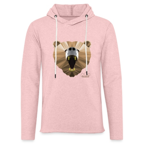 Hungry Bear Women's V-Neck T-Shirt - Unisex Lightweight Terry Hoodie