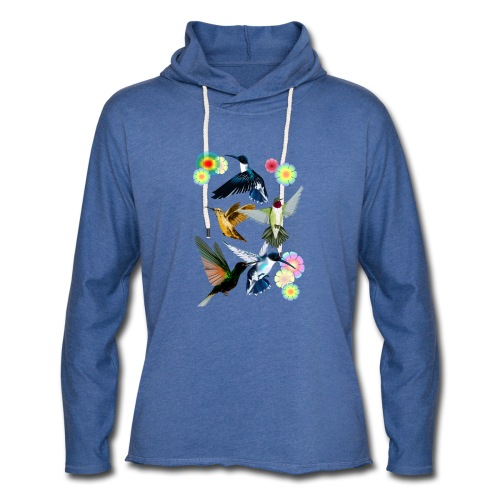 For The Love Of Hummingbirds - Unisex Lightweight Terry Hoodie