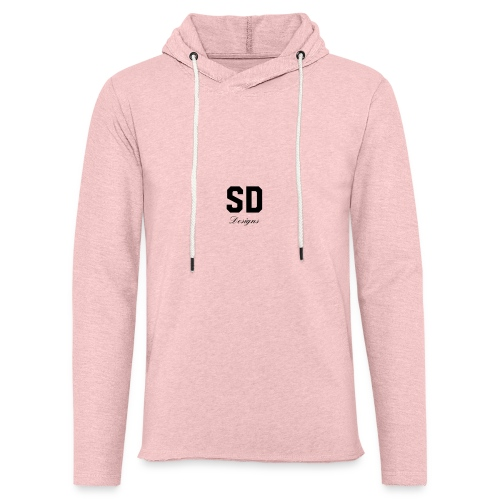 SD Designs blue, white, red/black merch - Unisex Lightweight Terry Hoodie