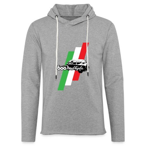 Fiat 600 Multipla script and illustration - - Unisex Lightweight Terry Hoodie