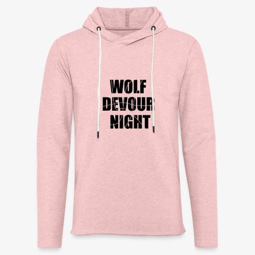 Wolf Devour Night - Unisex Lightweight Terry Hoodie