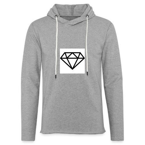 diamond outline 318 36534 - Unisex Lightweight Terry Hoodie
