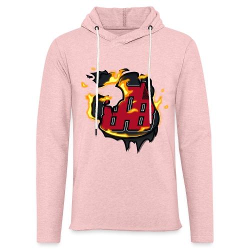 BAB Logo on FIRE! - Unisex Lightweight Terry Hoodie