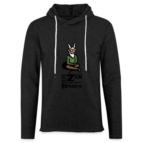 The Zen of Nimbus t-shirt / Nimbus color with logo - Unisex Lightweight Terry Hoodie