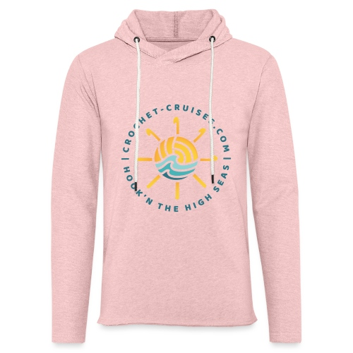 Front and Back Emblem - Womens - Unisex Lightweight Terry Hoodie