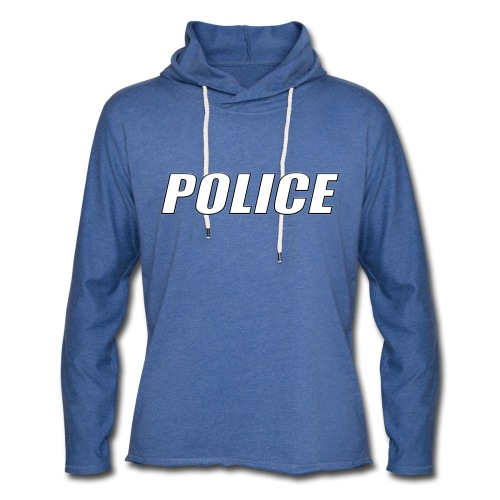 Police White - Unisex Lightweight Terry Hoodie