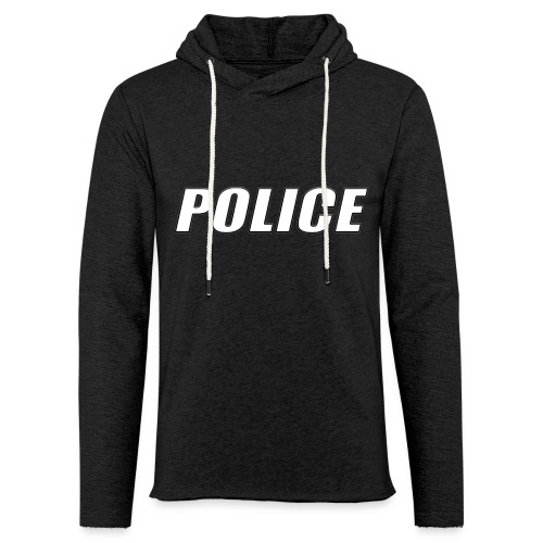 Police White - Unisex Lightweight Terry Hoodie