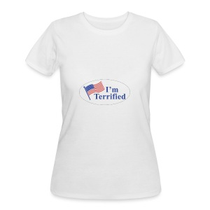 I'm Terrified by Trump - Women's 50/50 T-Shirt