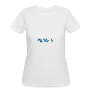 Prime 5 Text Logo - Women's 50/50 T-Shirt