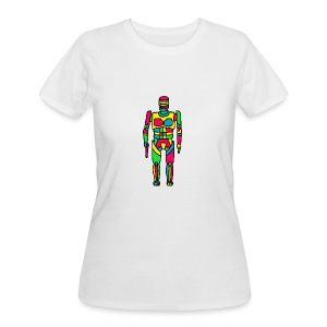 Cartoon Robocop in Color - Women's 50/50 T-Shirt