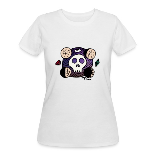 Moon Skull from Outer Space - Women's 50/50 T-Shirt