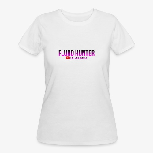 The Fluro Hunter Black And Purple Gradient - Women's 50/50 T-Shirt