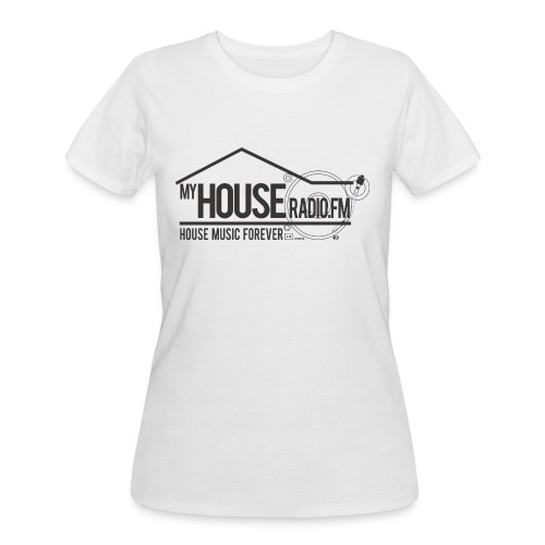 My House Radio Black Logo - Women's 50/50 T-Shirt