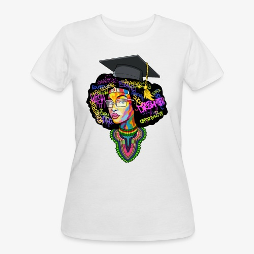 Black Educated Queen School - Women's 50/50 T-Shirt