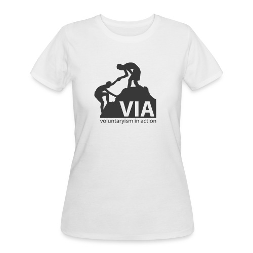 VIA Logo Black - Women's 50/50 T-Shirt