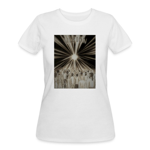 Black_and_White_Vision2 - Women's 50/50 T-Shirt