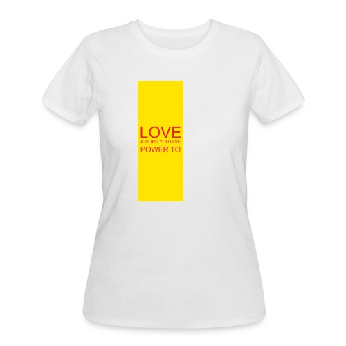 LOVE A WORD YOU GIVE POWER TO - Women's 50/50 T-Shirt