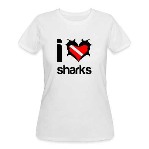I Love Sharks - Women's 50/50 T-Shirt