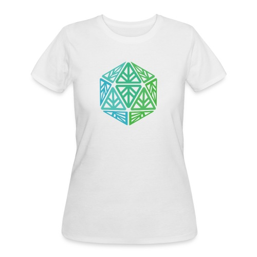 Green Leaf Geek Iconic Logo - Women's 50/50 T-Shirt