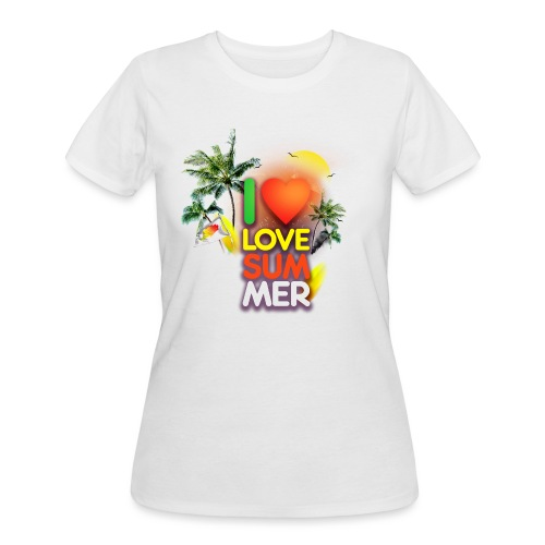 I love summer - Women's 50/50 T-Shirt