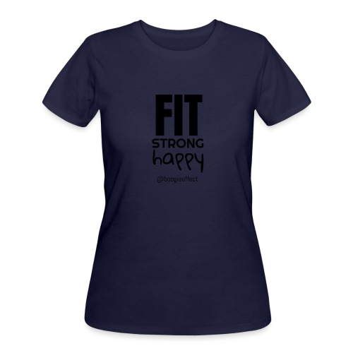 fit strong happy black - Women's 50/50 T-Shirt