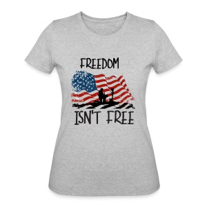 Freedom isn't free flag with fallen soldier design - Women's 50/50 T-Shirt