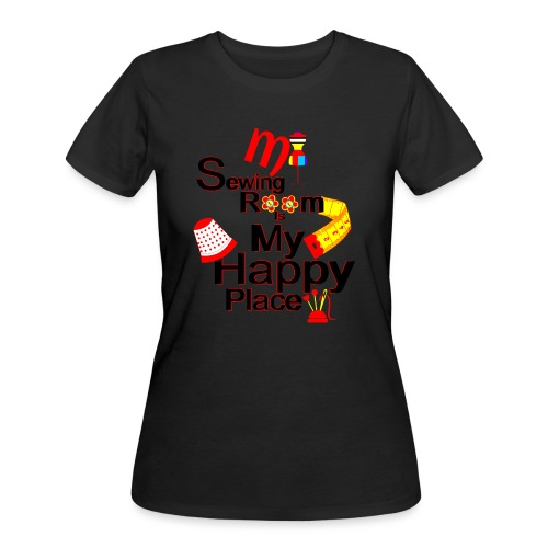 MY SEWING ROOM IS MY HAPPY PLACE - Women's 50/50 T-Shirt