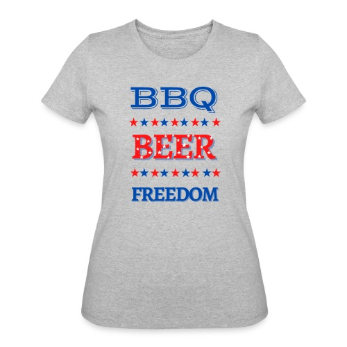 BBQ BEER FREEDOM - Women's 50/50 T-Shirt