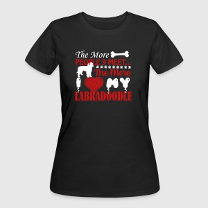 I Love My Labradoodle Shirt - Women's 50/50 T-Shirt