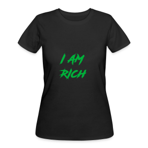 I AM RICH (WASTE YOUR MONEY) - Women's 50/50 T-Shirt