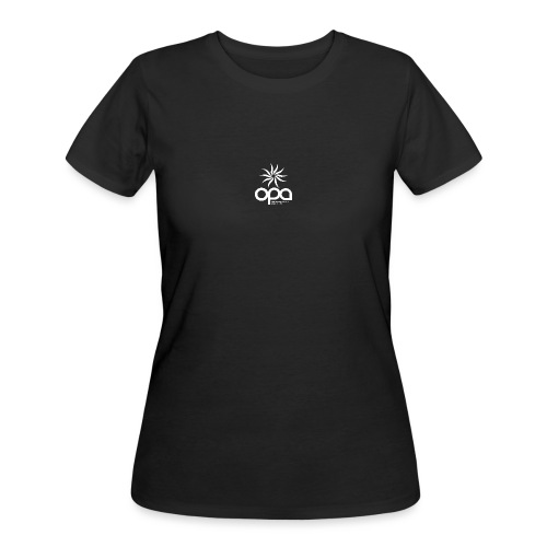 Short Sleeve T-Shirt with small all white OPA logo - Women's 50/50 T-Shirt