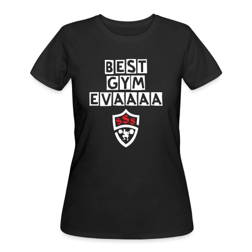 Best Gym Evaaa White and Red - Women's 50/50 T-Shirt